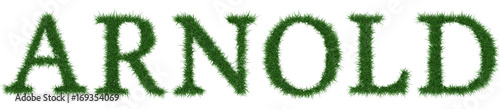 Photo Arnold - 3D rendering fresh Grass letters isolated on whhite background