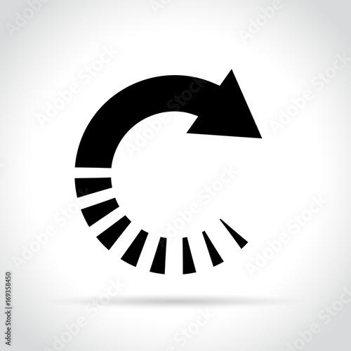 Fototapeta  circle arrow icon on white background