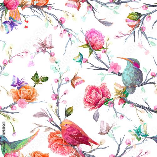 ptak-motyl-i-kwiat-lisc-oddzial-na-bialym-tle-imitacja-haftu-akwarela