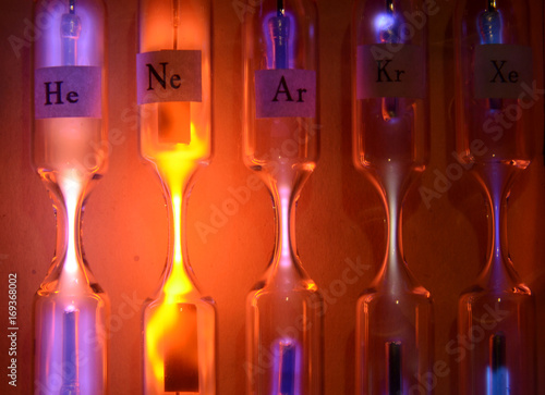 Photo Tubes with inert gases excited with high voltage