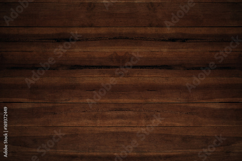 Poster Bois Old grunge dark textured wooden background,The surface of the old brown wood texture