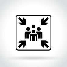 Meeting Point Icon On White Ba...