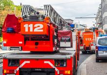 Feuerwehreinsatz In Der Stadt