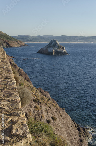 Fotografie, Obraz  The Sardinian coastline near Masua
