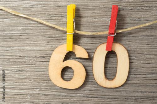 Photographie  Eine Dekoration zum 60 Geburtstag