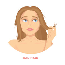 Woman With Bad Hair.