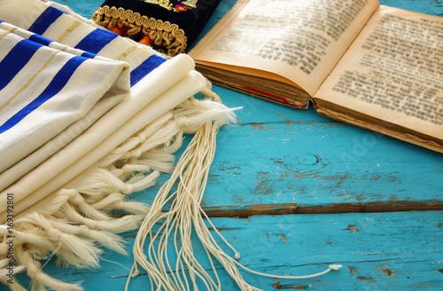 Fotomural Prayer Shawl - Tallit, jewish religious symbol
