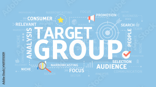 Target group illustration. Canvas Print