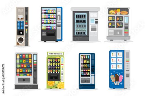 Fotografie, Obraz  Vending machines set.