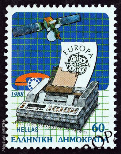 Tela  Satellite and Fax Machine (Greece 1988)