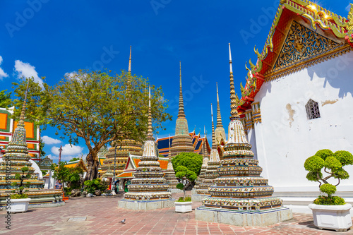 Tuinposter Bedehuis 花咲く涅槃仏寺、ワットポー、Wat Pho