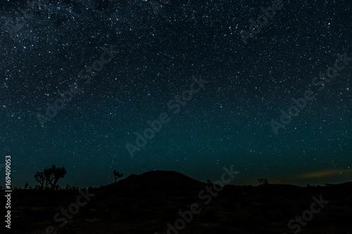 La pose en embrasure Nuit Bright Stars over Joshua Tree Desert