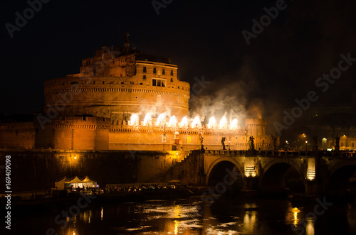 Italy, Rome, Castel Sant'Angelo, St. Peter and Paul festival