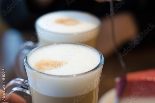 Canvas Prints Beer / Cider Two coffee cappuccino latte