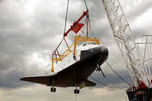 A Space Shuttle On The Crane G...