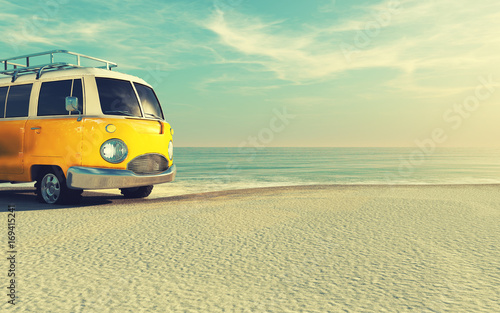 The car is a generic model. Canvas Print