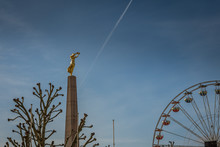 Ferris Wheel And Statue Luxembourg