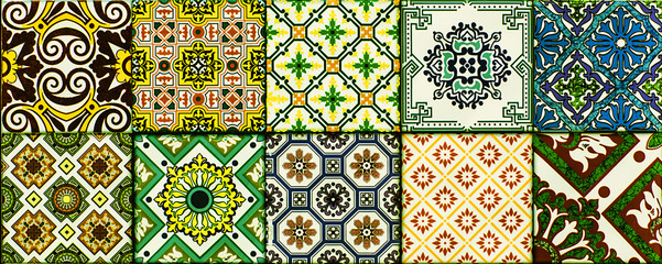 Fototapeta Mozaika Ceramic, marble tiles with an abstract mosaic pattern for interior decoration