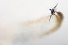 Polish F-16 Makes Its Show During Air Show Radom 2017 In Radom, Poland
