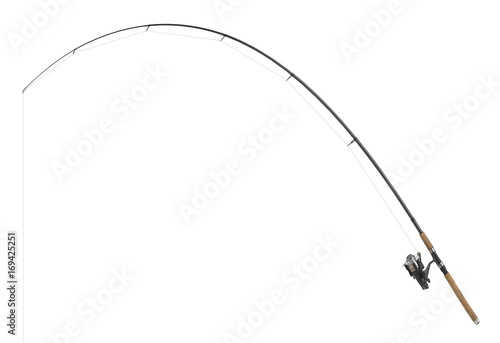 Fotomural  isolated fishing pole