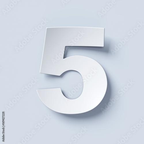 Fotomural White bent paper font number 5