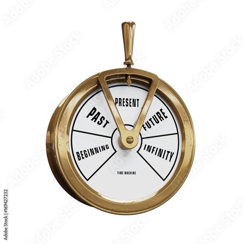 Obraz na płótnie Time machine telegraph going to Present time