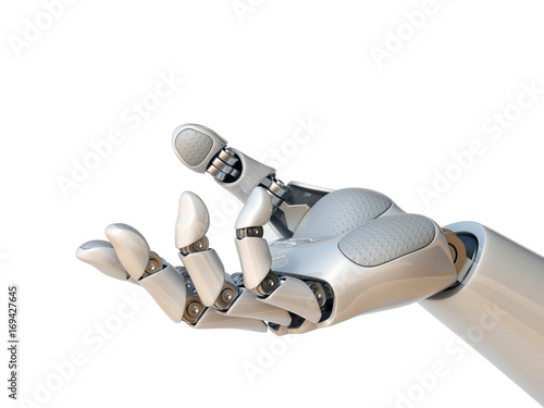 Robot hand reaching gesture or holding object 3d rendering Wallpaper Mural
