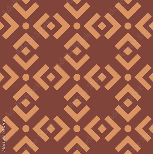 Seamless asian pattern with geometric elements Canvas Print