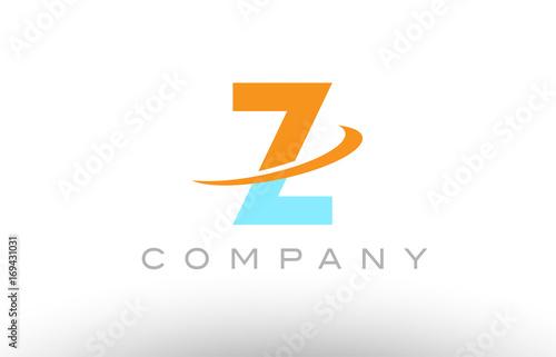 Z orange blue logo icon alphabet design - Buy this stock