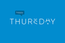 Happy Thursday Logo With Capit...