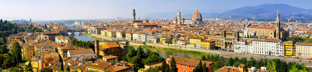Fototapeta Toskania Florence Italy cityscape panoramic