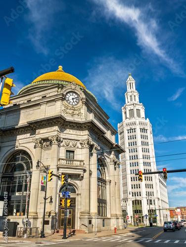 The Buffalo Savings Bank, a historic neoclassical Beaux-Arts building - NY, USA