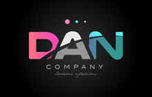 DAN D A N Three Letter Logo Ic...
