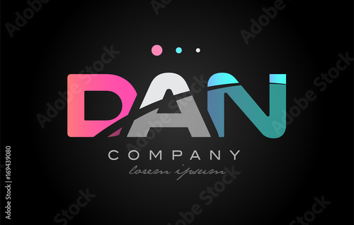DAN d a n three letter logo icon design Slika na platnu