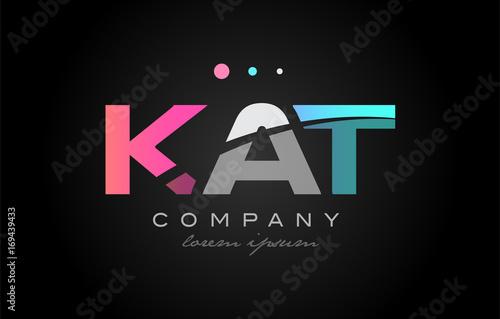 KAT k a t three letter logo icon design Poster Mural XXL