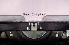 New Chapter Typed On A Vintage...