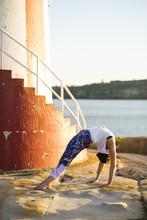 A Yogi Practices A Backbend On...