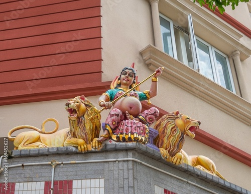 Photo  Sculpture, architecture and symbols of Hinduism and Buddhism, Singapore, Southea