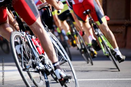 Fotobehang Fietsen Radrennen