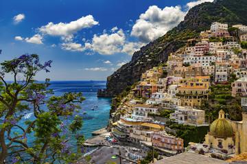 FototapetaItaly. Amalfi Coast (UNESCO World Heritage Site since 1997). Positano town