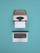 Computer And Typewriter