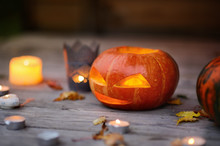 Halloween Pumpkins Head Jack-o...