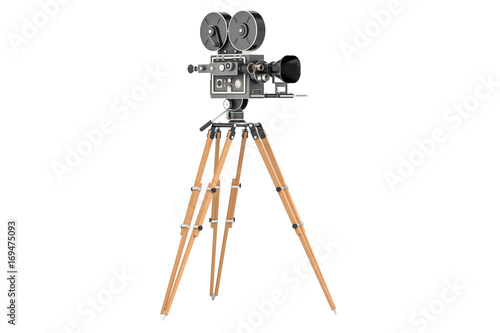 stara-kamera-filmowa-na-statywie-ilustracja-3d