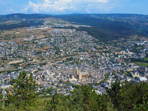 Photo  mende en occitanie vue depuis le mont mimat