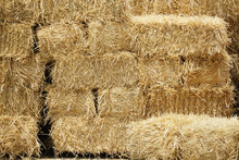 Bale Of Hay Stacking Inside Sh...