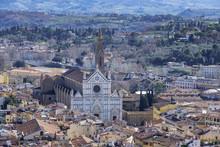 Italy, Tuscany, Florence, Santa Croce Church