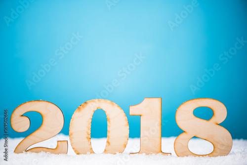 Fototapeta New Year 2018 background obraz na płótnie