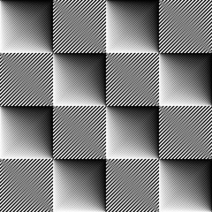Obraz na Plexi Minimalistyczny Abstract Monochrome Background. Vector Regular Texture. Minimal Line Design