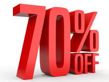 Seventy Percent Off. Discount 70 %.