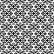 Ornamental seamless pattern. Black and white